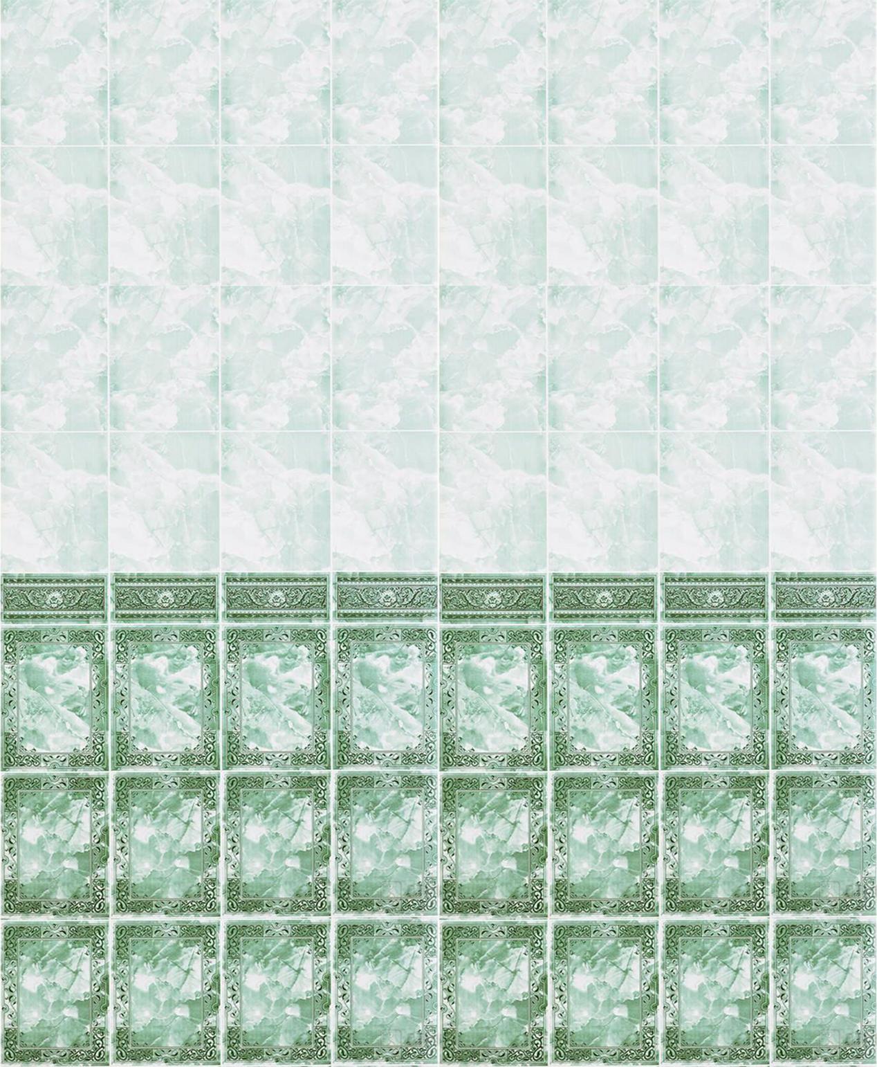 Панель с фризом «Барон зелёный» 0,25х2,7 м.