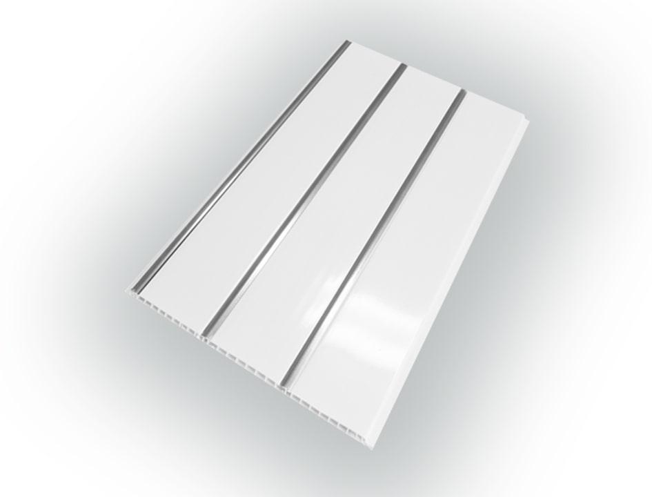 Панель ПВХ 3-х секционная под реечный потолок «Серебро» 0.25 х 3 м