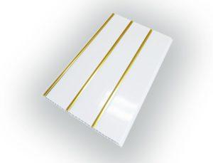Панель ПВХ 3-х секционная под реечный потолок «Золото» 0.25 х 3 м