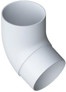 Колено трубы ПВХ 67 градусов