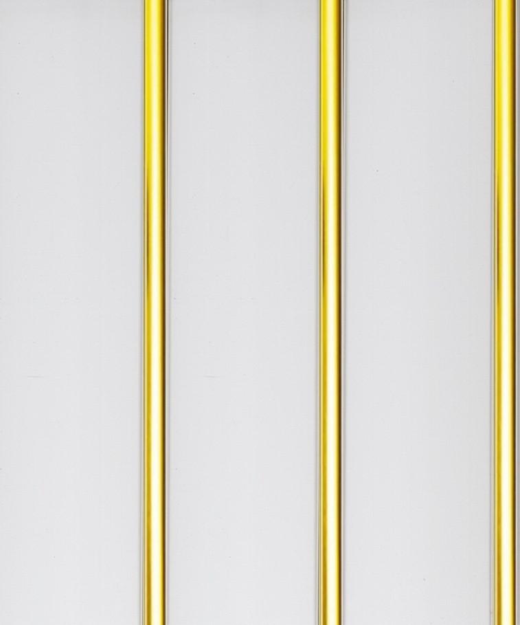 Панель ПВХ 3-х секционная под реечный потолок «Золото» 0.24 х 3 м