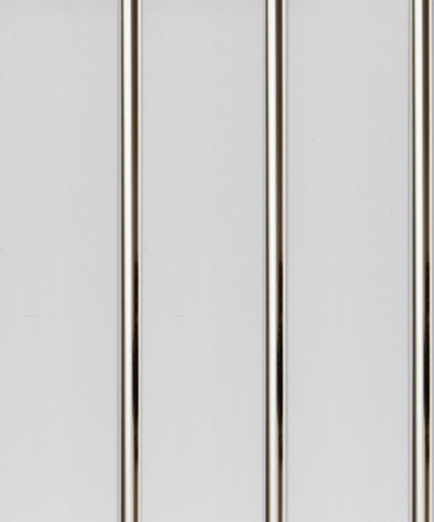 Панель ПВХ 3-х секционная под реечный потолок «Серебро» 0.24 х 3 м