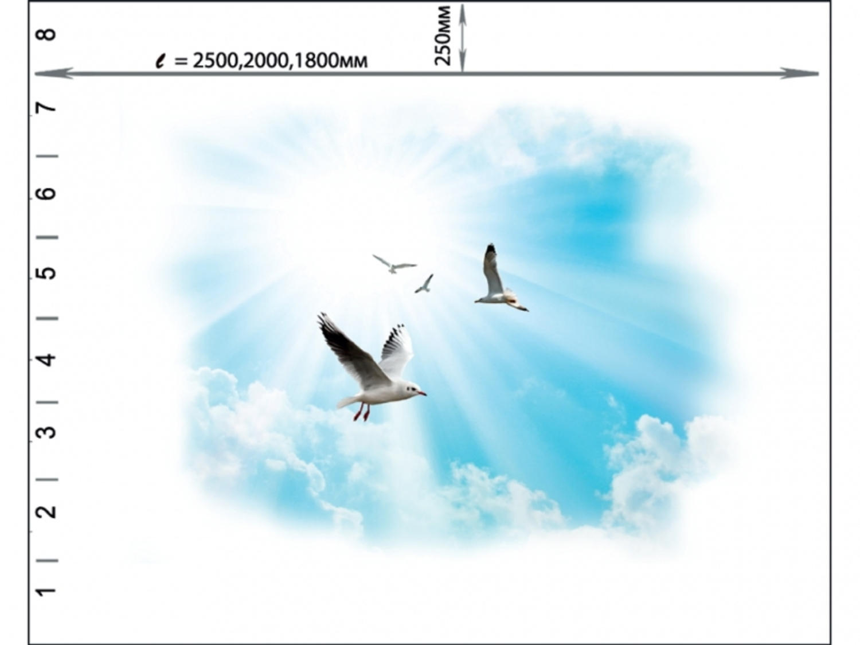Комплект потолка Novita «Чайки»