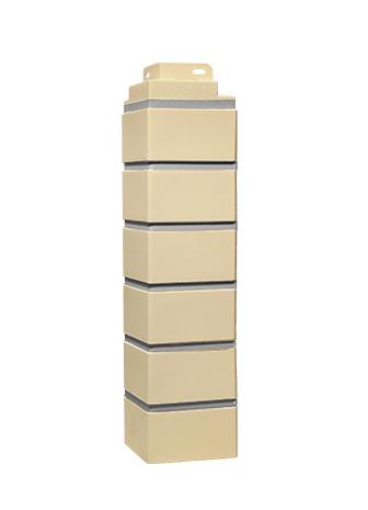 Угол наружный FINEBER Дачный. Кирпич клинкерный. (485х120 мм)